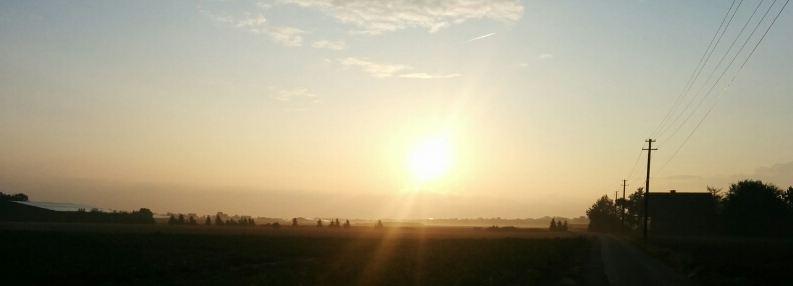 Sonnenaufgang Kleinenbroich 23082014 Laufen Running