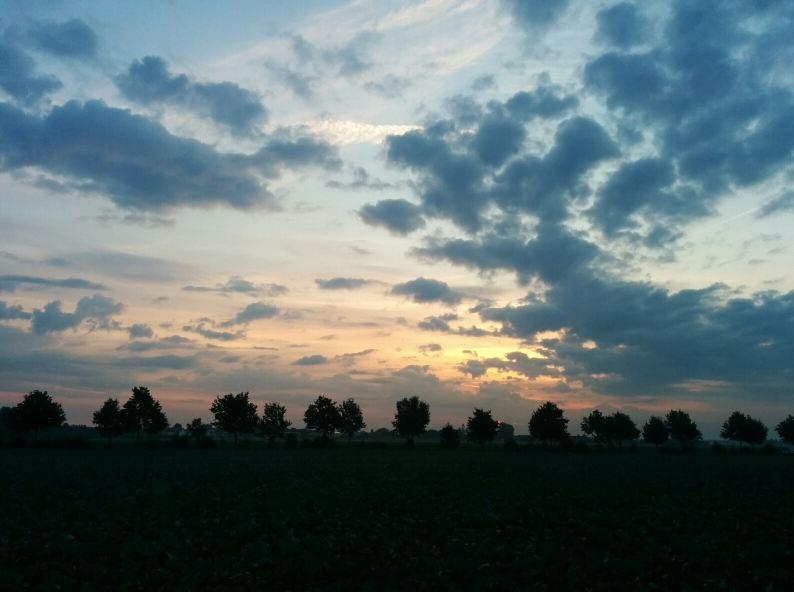 Sonnenaufgang Kleinenbroich 25082014 Laufen Running