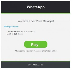 Spam Voice Message Notification WhatsApp Messaging Service