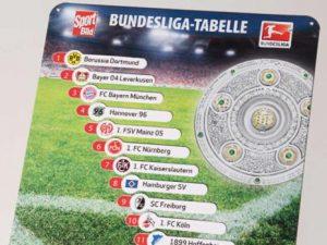 SportBild Bundesliga Magnet-Tabelle 2011 2012