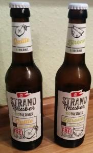 Störtebeker Strandräuber Bio Biermix Quitte Weizen-Bier Zitrone Frei-Bier alkoholfrei