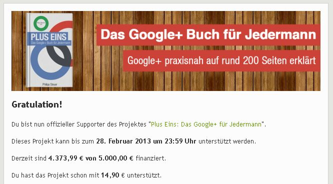 Startnext - Google Plus für jedermannStartnext -