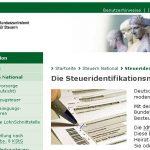 Steueridentifikationsnummer Kind Finanzamt online beantragen