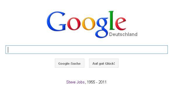Steve Jobs 1955 2011 Apple Google Startseite