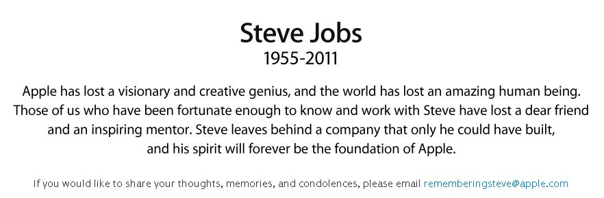 Steve Jobs 1955 2011 Apple Nachruf