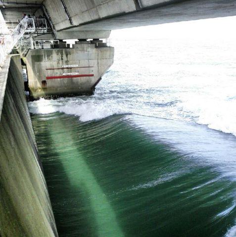 Sturmflutwehr Deltawerken Freizeitpark Neeltje Jans Zeeland Holland Niederlande Nordsee Oosterschelde