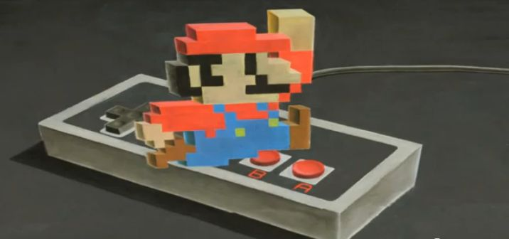 Super Mario 3D Kreide Timelapse Video YouTube