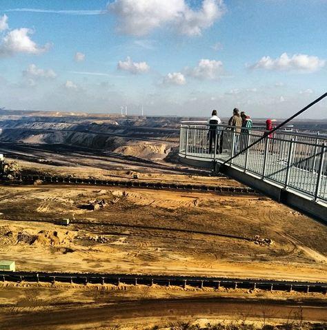 Tagebau Garzweiler Jackerath Skywalk RWE