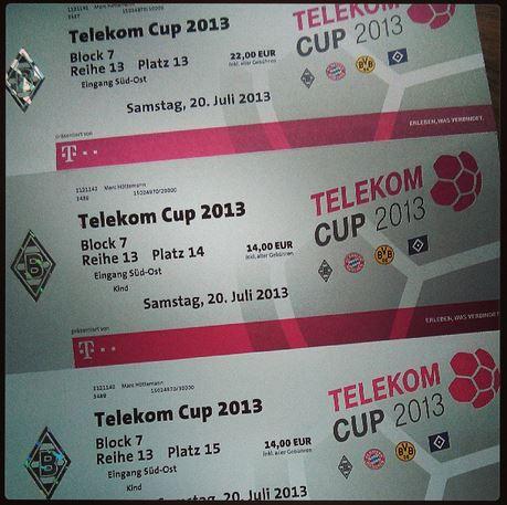 Telekom Cup 2013 Borussiapark Mönchengladbach Tickets
