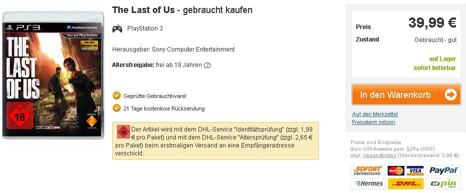 The Last of Us gebraucht kaufen  reBuy PS3
