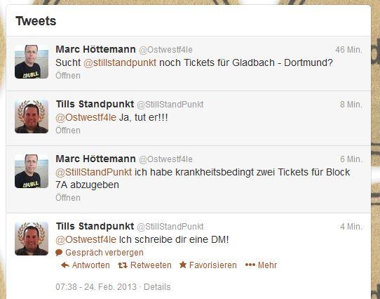 Tills Standpunkt (StillStandPunkt)Twitter Ostwestf4le BMG BVB Tickets