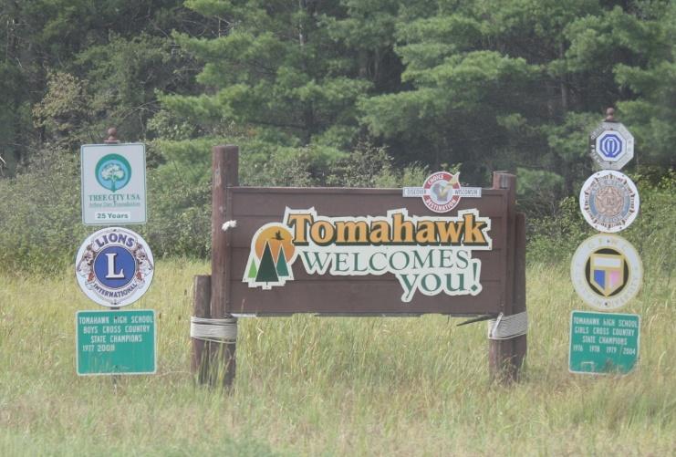 Tomahawk Ortseingang USA