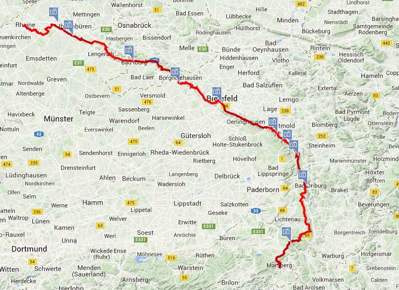 Top Trails Hermannshöhen Wanderung in Nordrhein-Westfalen und Niedersachsen