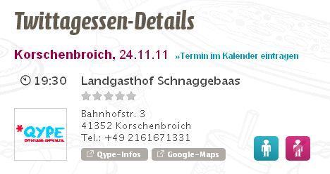 Twittagessen November 2011 Kleinenbroich