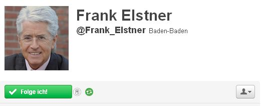 Twitter Account Frank Elstner @Frank_Elstner