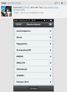 Twitter Trending Topics Trends twnr1 Twittwoch