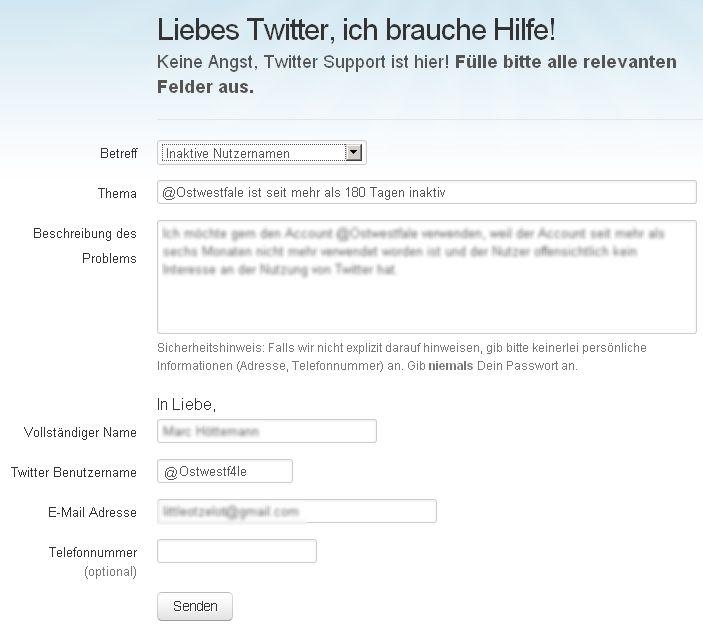 Twitter inaktiver Account übernehmen Tutorial 2