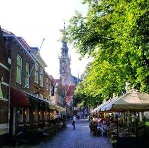 Veere Niederlande Holland Versemeer Marktplatz Zeeland