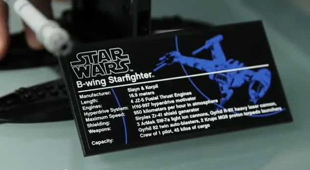 Video LEGO 10227 B-wing Starfighter YouTube