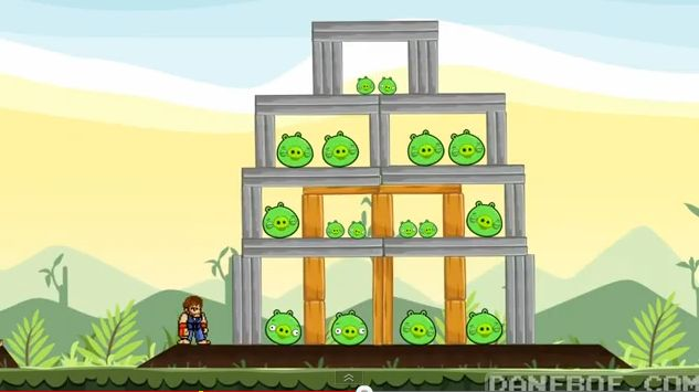 Video YouTube Chuck Norris vs Angry Birds