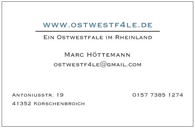 Visitenkarte Vistaprint www.ostwestf4le.de