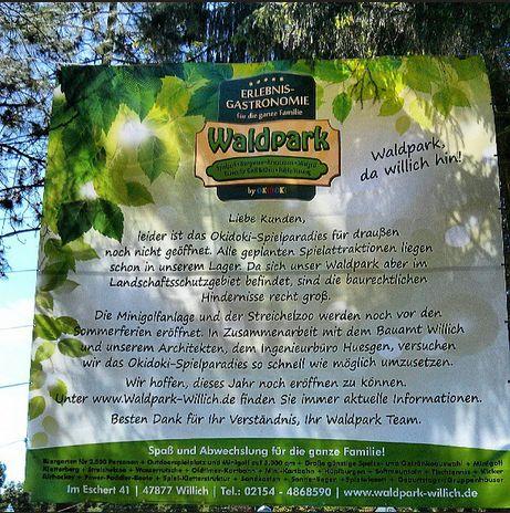 Waldpark Willich Baustelle Bauarbeiten Ur-Alt Qype