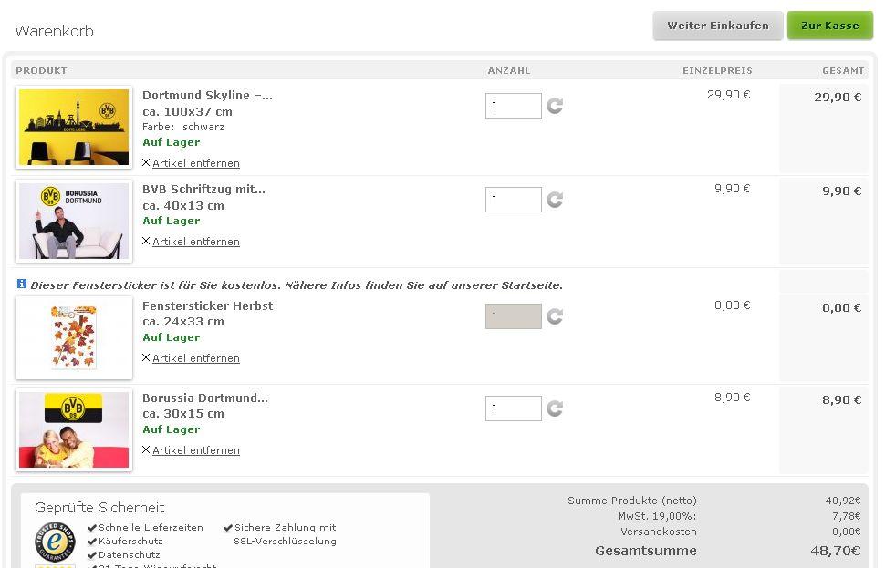 Produkttest Borussia Dortmund Wandtattoos Von Kl Wall Art Ein