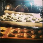 Weihnachtsbäckerei Kokos Makronen Backofen