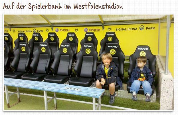 Westfalenstadion Innenraum Spielerbank Dortmund Borussia Führung