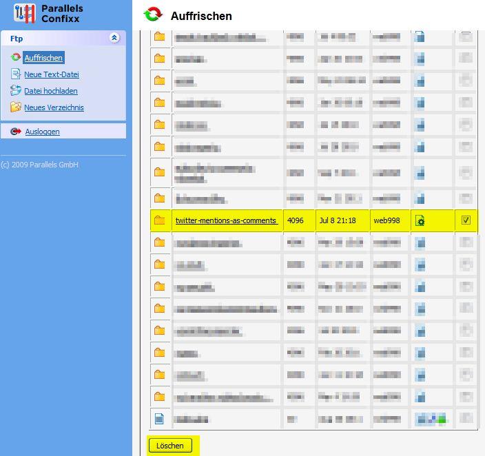 WordPress Plugin löschen nach Update Tutorial Anleitung