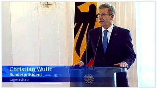 Wulff Erklärung ARD Tagesschau livestream Bundespräsident Rede Rücktritt