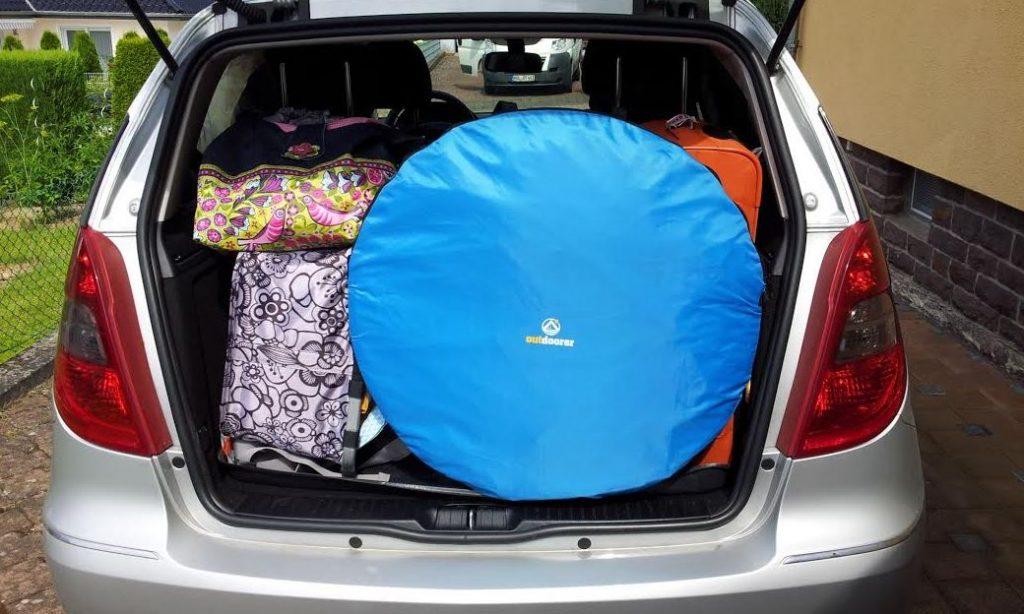 Wurf-Strandmuschel Zack Premium Outdoorer Auto Transport