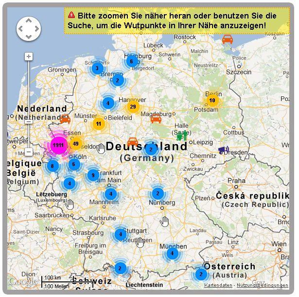 Wutpunkte.de Ärger Lärm Müll Deutschland Europa Stand 06082012
