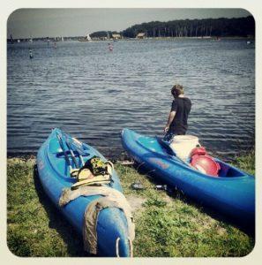 Zeeland Versemeer Kajak Holland Niederlande Kanoa Buitensport Rast Pause Landgang