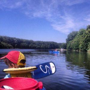 Zeeland Versemeer Kajak Holland Niederlande Kanoa Buitensport auf dem Wasser