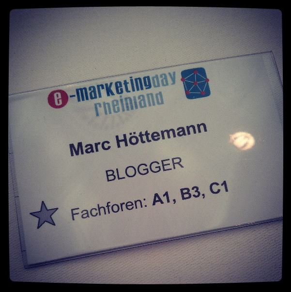 e-Marketingday 2013 Ausweis Blogger Mönchengladbach BorussiaPark.png
