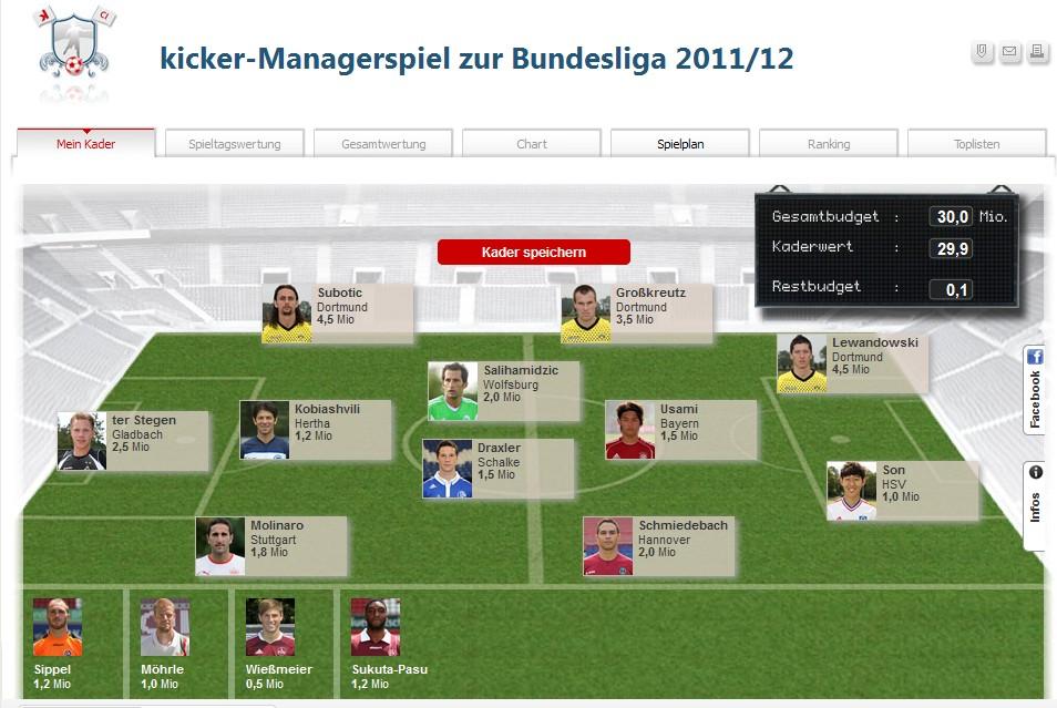 kicker Managerspiel Classic