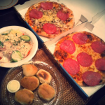 lieferando.de Bestellung online Pizza Stella Liedberg Insalata Mista Pizza Salami Mista