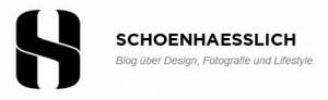 schoenhaesslich Blog über Design, Fotografie und Lifestyle Logo