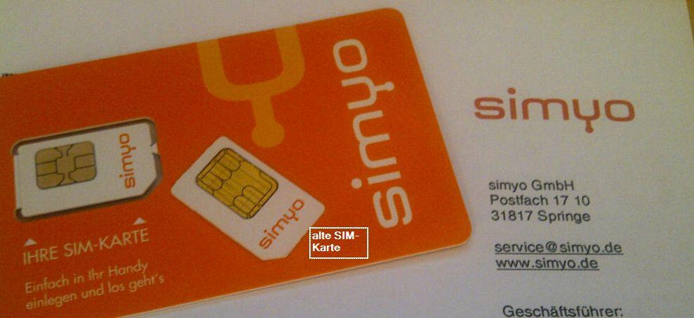 simyo SIM Karte